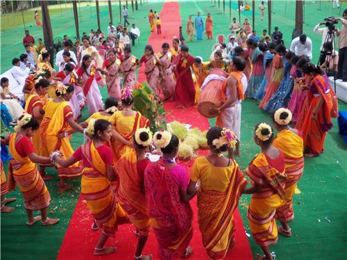 Jharkhand's great cultural importance is seen in the Karam Festival