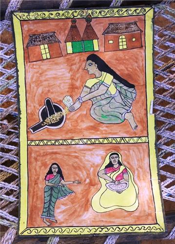 Although in the verge of extinction paitkar paintings remain popular in Jharkhand