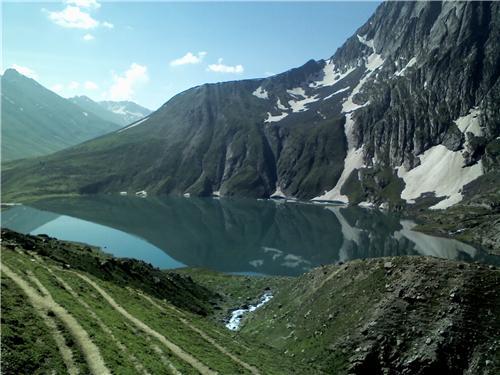 Vishansar Lake at Sonamarg in Jammu Kashmir