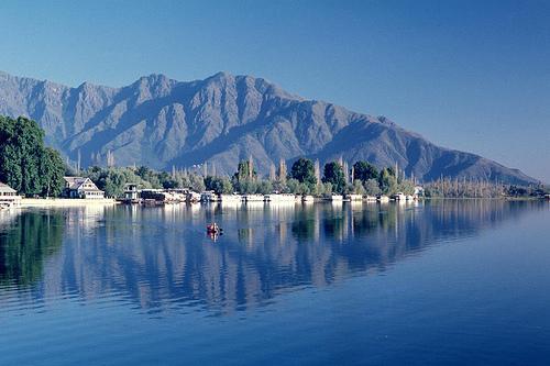 Nagin Lakes situated at Srinagar in Jammu & Kashmir