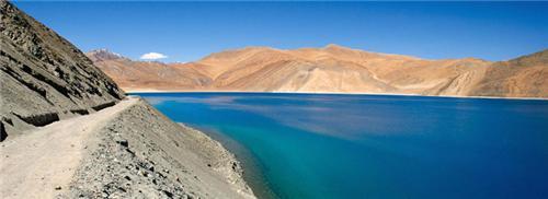 Exceptional view of Pangong Tso Lake placed at Leh in Jammu Kashmir