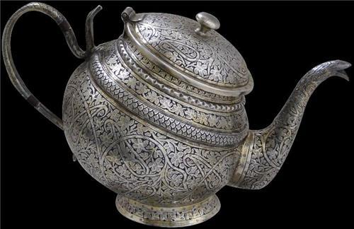 Silver Tea Pot on Display