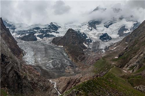 Glacier in Jammu Kashmir