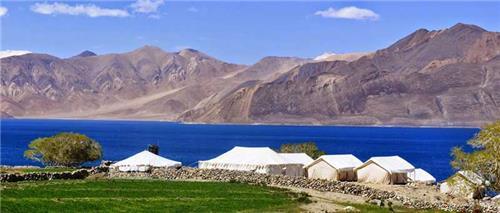 Cycling and Camping   at Pangong lake in Jammu and Kashmir