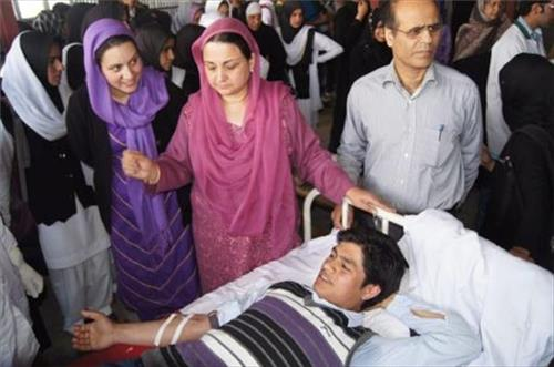 Blood Donation Camp at Aga Syed Yousuf Memorial District Hospital