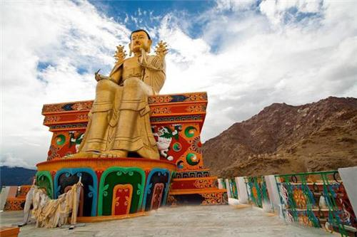 The Idol Outside the Likir Monastery in Leh