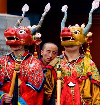 Performers of Losar Festival