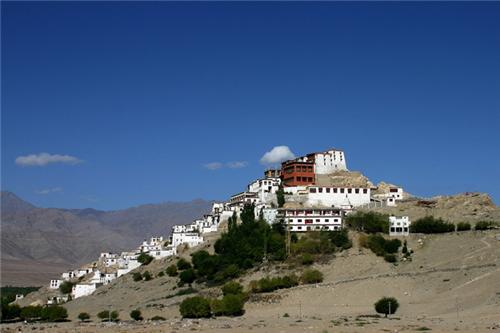 View of the Shey Monastery