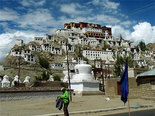 At the Thiksey Monastery