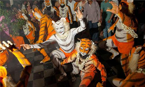 Tiger Dance in Udupi