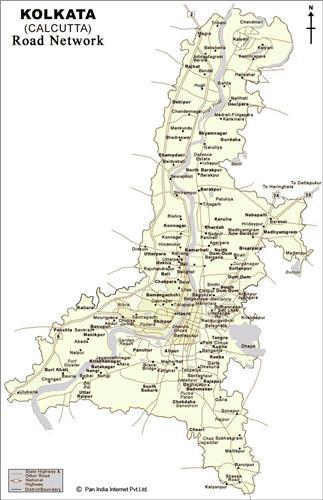 Kolkata Road Map