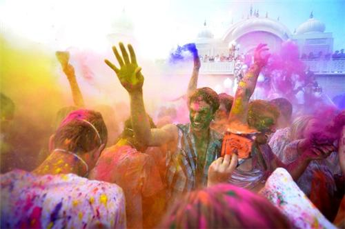 Holi celebration in Lucknow