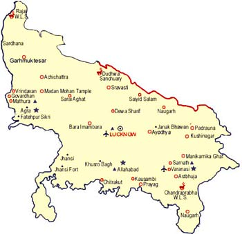 Lucknow Travel Map