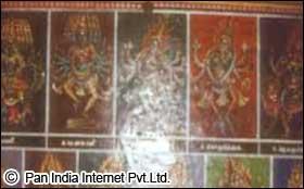 Paintings in Meenakshi Temple Madurai
