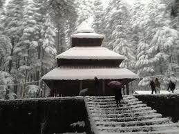 Hadimba Temple in Snow