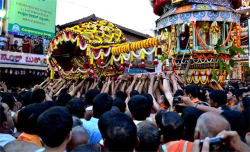 Festival in Mangalore Temple