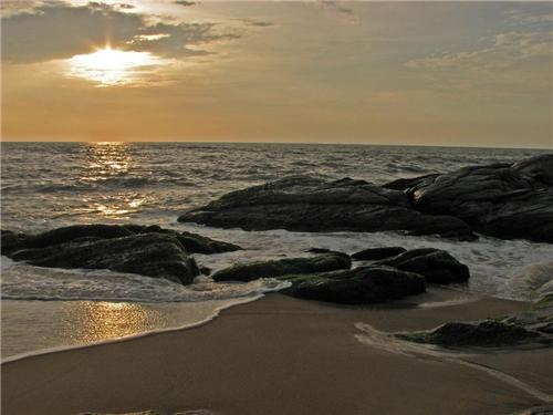 Someswara beach in the evening
