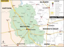 Map of Mathura