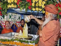 Abhishek of Deity of Radha Rani on Radhashtami in Mathura