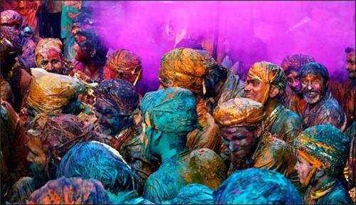 Holi Festival in Mathura