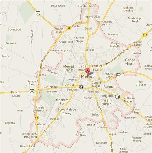 Map of Meerut