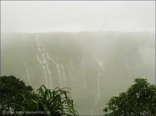 Nohsngithiang Falls in Cherrapunjee, Meghalaya