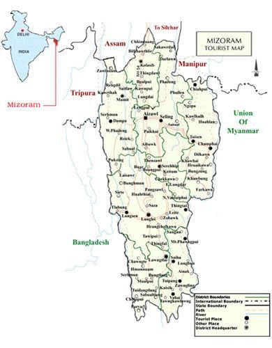 Mizoram road map