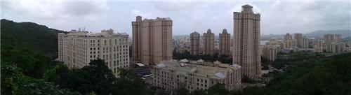 The panormic view of the beautiful Powai area where Renaissance Hotel is located.