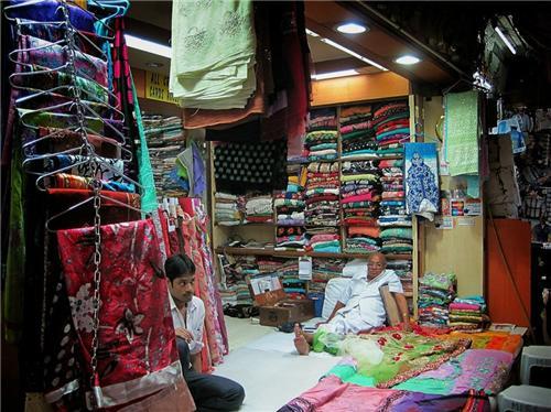 One of the many shops at Mangaldas market