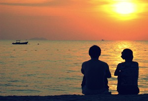 Watching sunsets together is what couples prefer most.