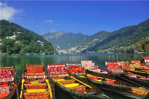 Boats in Naini Lake
