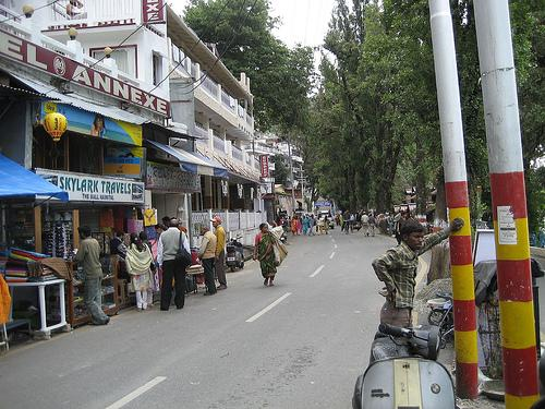 Mall Road in Nainital