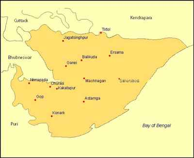 Geography of Jagatsinghpur