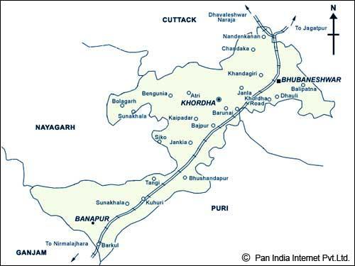 Bhubaneswar Railway Map