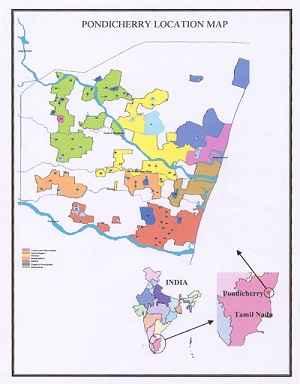 Map of Puducherry
