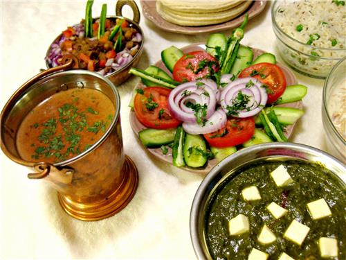 Variety of Vegetarian Food in Punjab