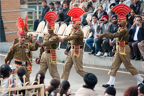 Ceremony at Wagah Border in Amritsar