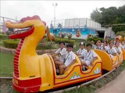 Various Rides at Dhillon's Fun World in Patiala