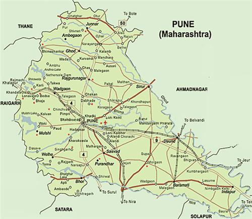 Map of Pune