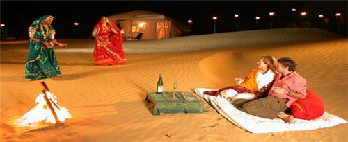 Honeymoon in the sand dunes of rajasthan