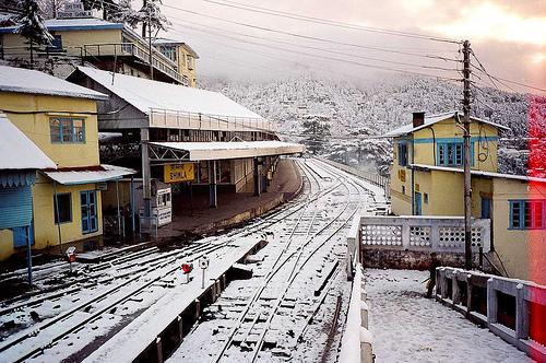 Shimla Railway Station in Winter