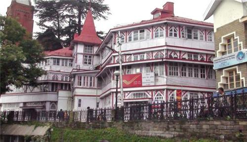 The Front view of General Post Office, Shimla
