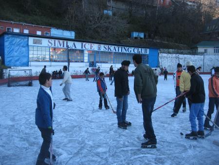 Ice Hockey at Shimla Ice Skating Club