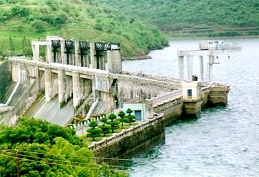 Bhadra Dam in Shimoga