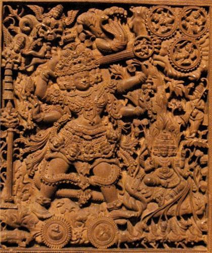 Sculpture of Shiva, Tripurantaka Temple in Shimoga