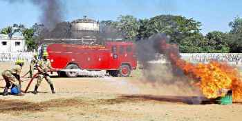 Fire service in Shimoga