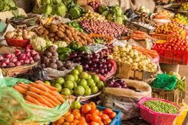 Vegetable market in Adilabad