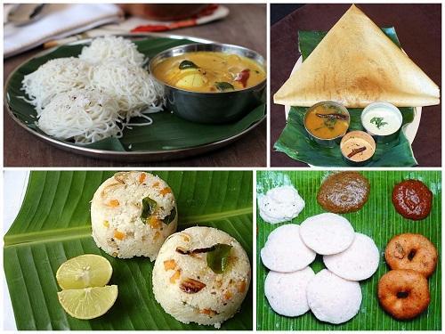 Typical Breakfast in Tamil Nadu