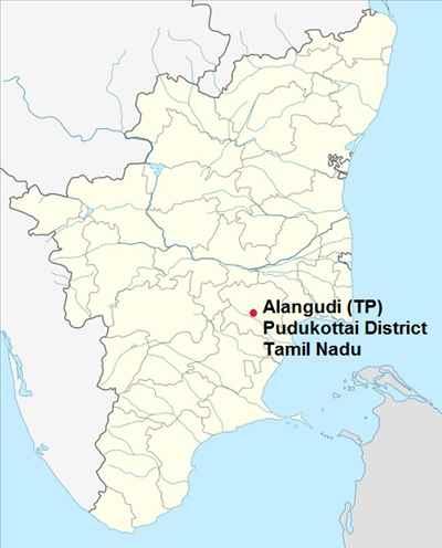 Alangudi in TN Map