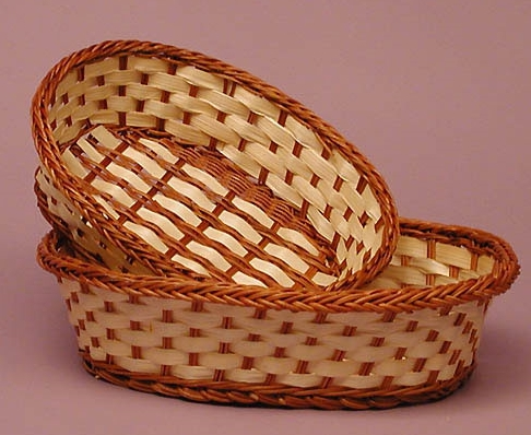 Closed and open weave baskets of tripura